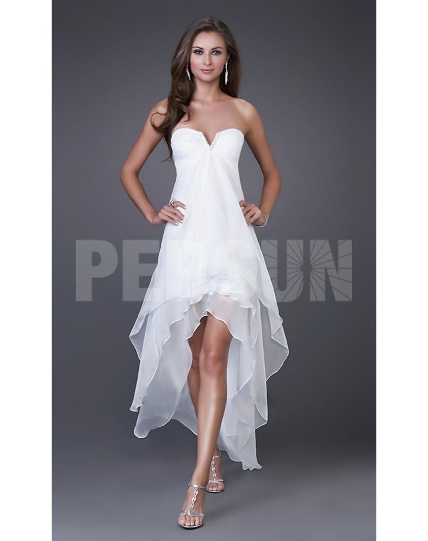 Schön Abendkleid Weiß Kurz Stylish15 Spektakulär Abendkleid Weiß Kurz Ärmel