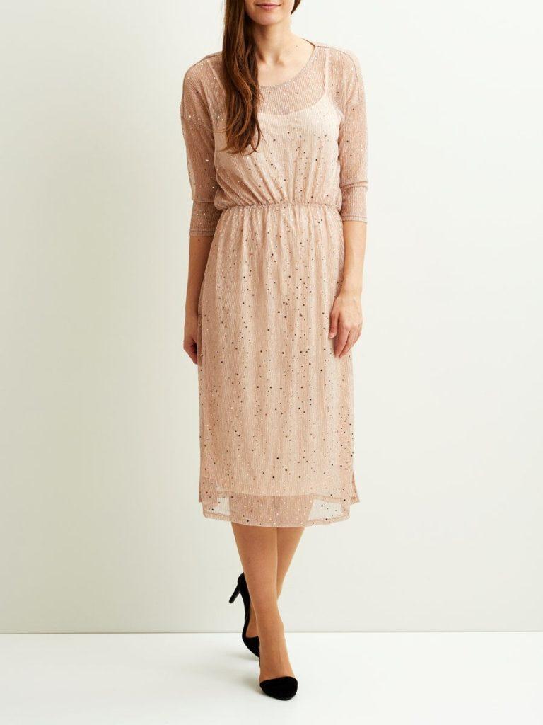 10 leicht rosa langes kleid mit glitzer stylish  abendkleid