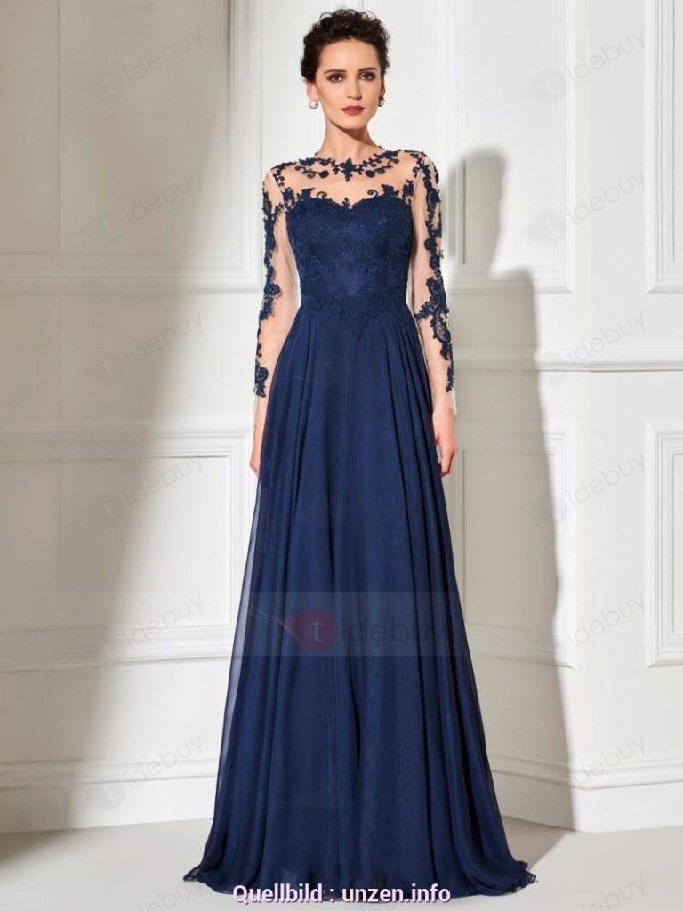 9 Einfach Langes Kleid Spitze für 9 - Abendkleid