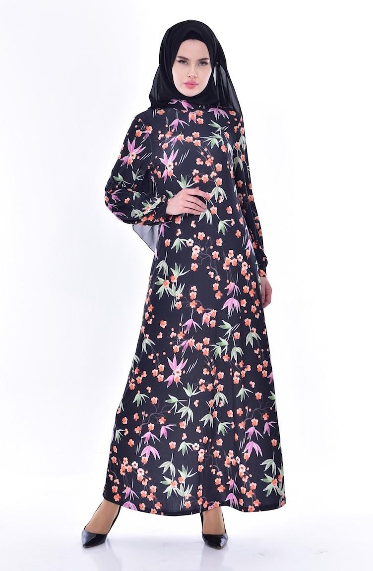 Abend Wunderbar Kleid Schwarz Blumen für 2019 Schön Kleid Schwarz Blumen Ärmel