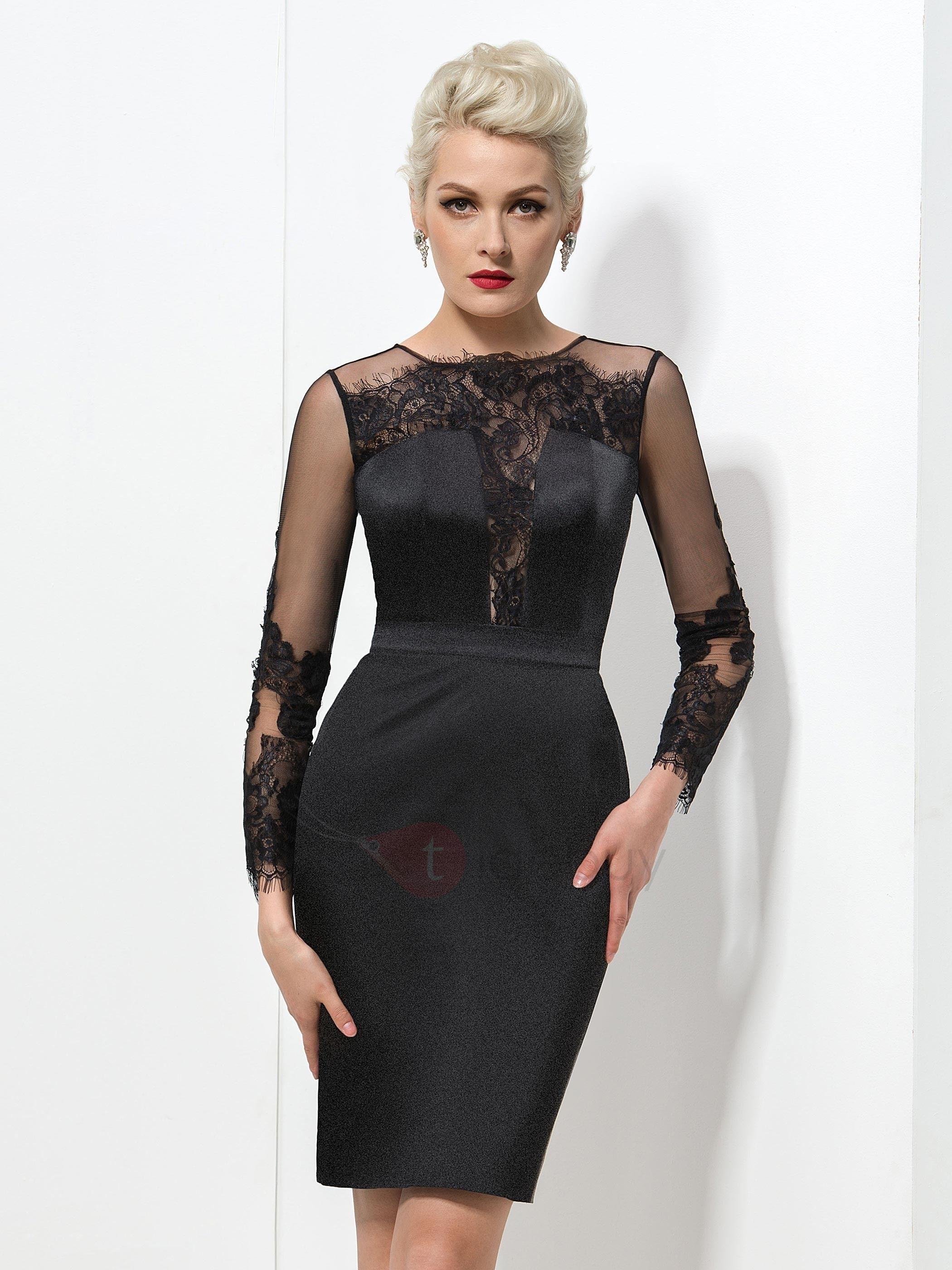 Abend Ausgezeichnet Schwarzes Kleid Mit Spitze Langarm für 201913 Erstaunlich Schwarzes Kleid Mit Spitze Langarm Spezialgebiet