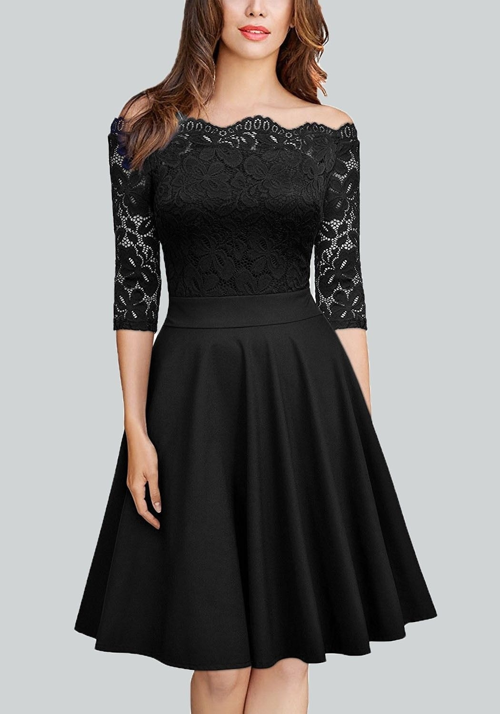 Spektakulär Schwarzes Kleid Mit Spitze Langarm VertriebFormal Schön Schwarzes Kleid Mit Spitze Langarm Galerie
