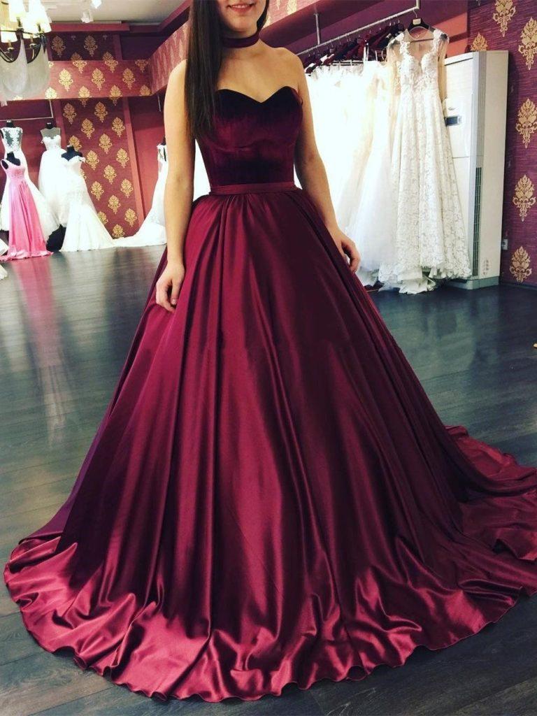 Cool Kleid Weinrot Hochzeit für 5 - Abendkleid