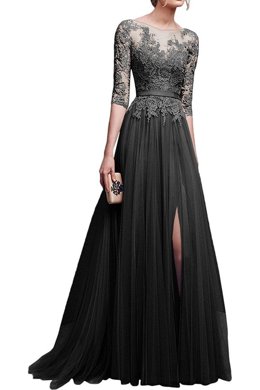 Schön Kleid Spitze Langarm für 2019Designer Einfach Kleid Spitze Langarm Stylish