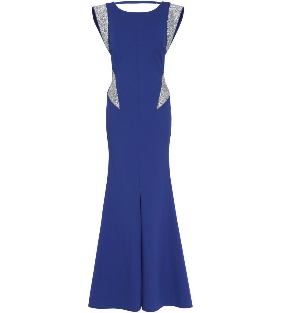 formal perfekt royalblau kleid design - abendkleid