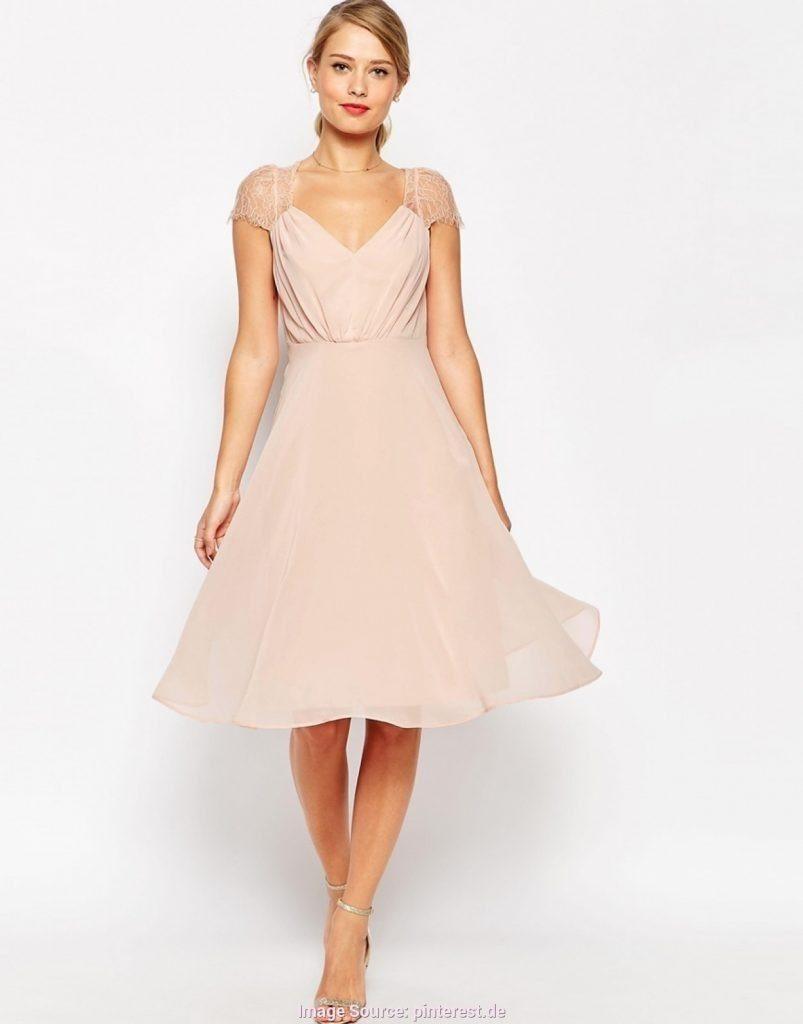 19 Schön Kleid Festlich Midi Ärmel - Abendkleid