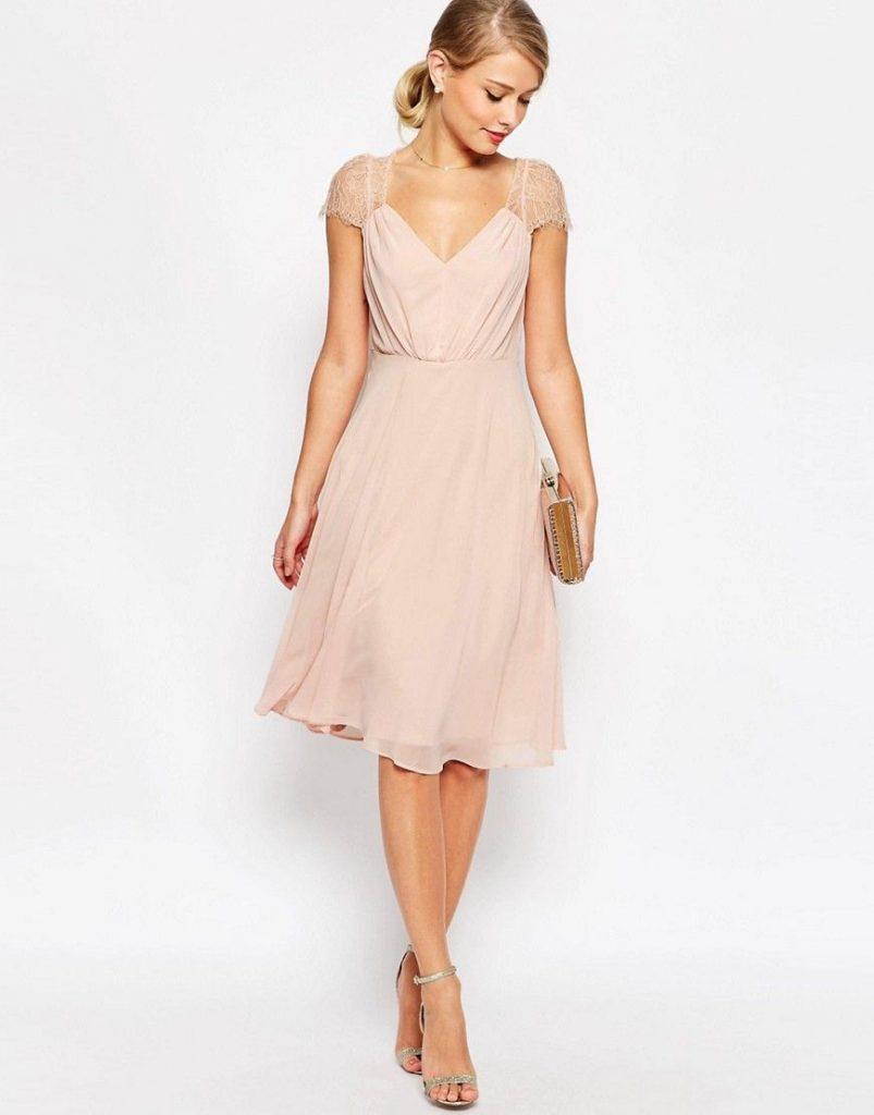 19 Elegant Kleid Festlich Midi Ärmel - Abendkleid