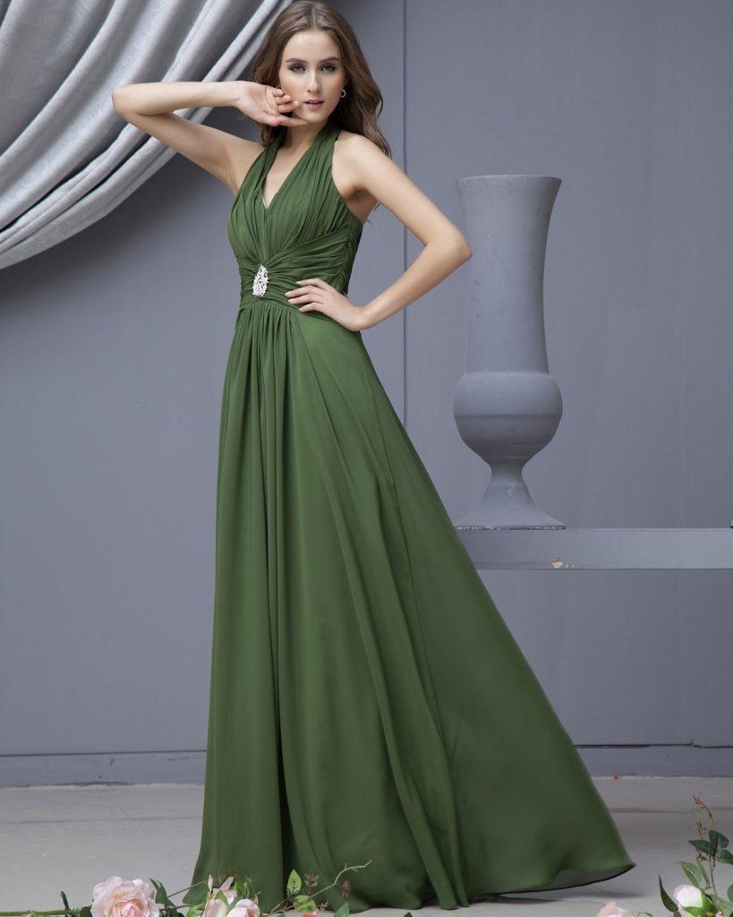 Abend Einzigartig Kleid Lang Grün Bester PreisAbend Schön Kleid Lang Grün für 2019