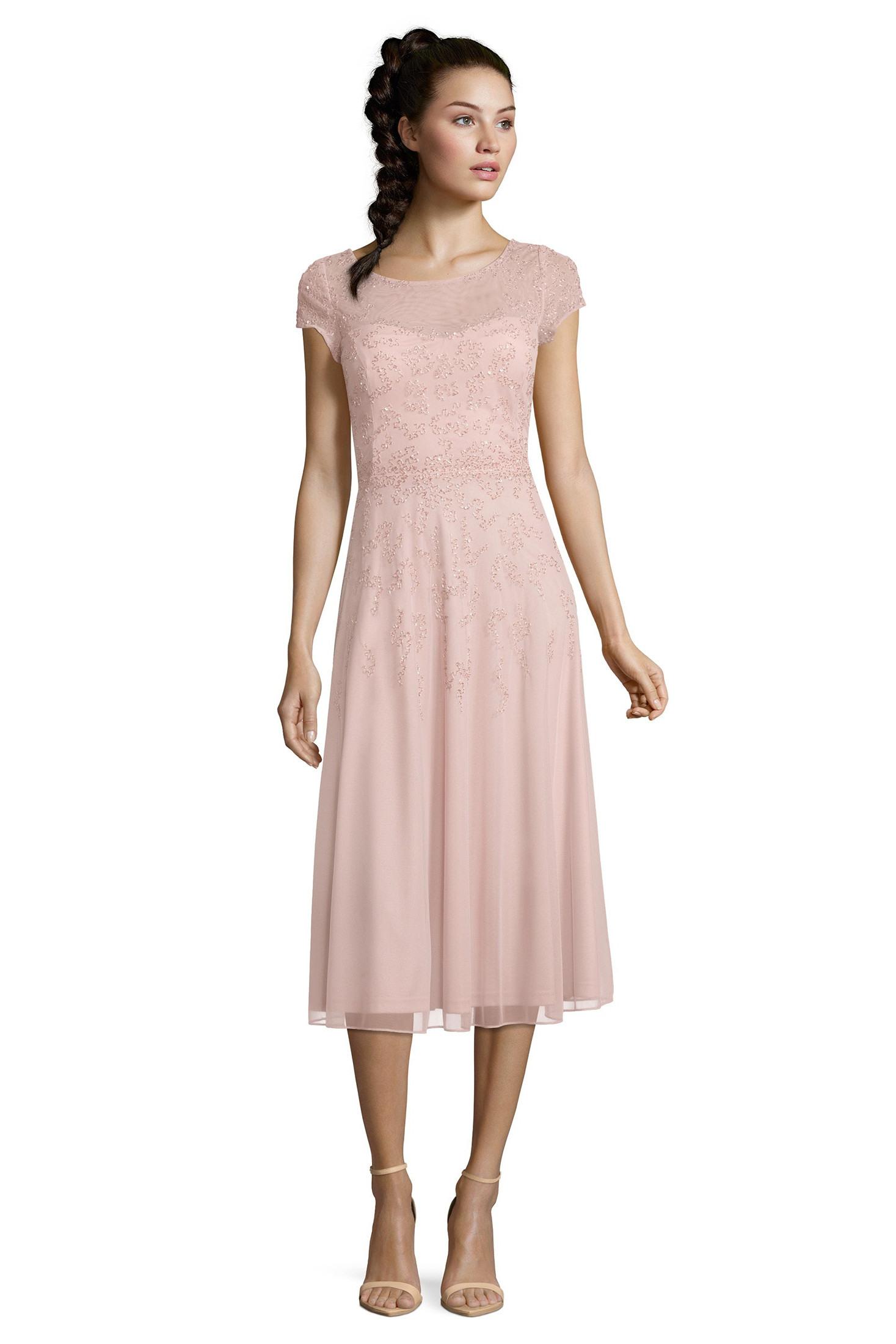 Abend Einfach Kleid Rosa Festlich Design Top Kleid Rosa Festlich Ärmel
