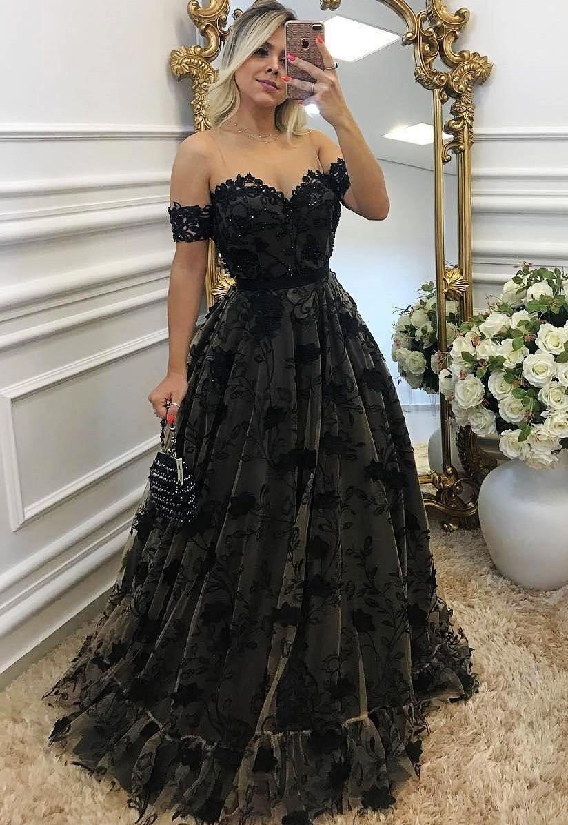 20 Schön Abendkleid Schwarz Lang Spezialgebiet Perfekt Abendkleid Schwarz Lang Ärmel