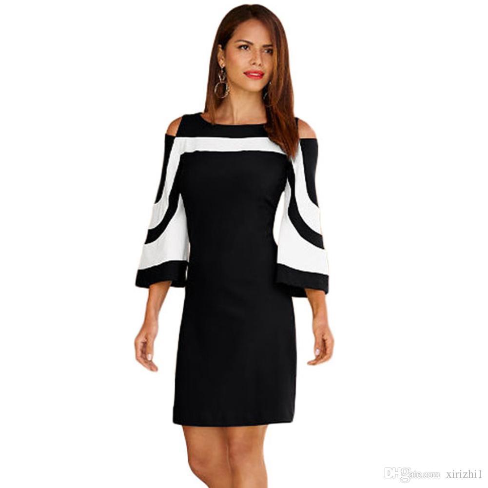 13 Schön Kleid Schwarz Weiß Design Schön Kleid Schwarz Weiß Bester Preis