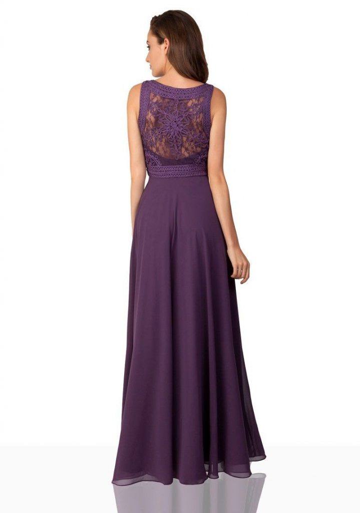 Leicht Kleid Flieder Lang Spezialgebiet - Abendkleid