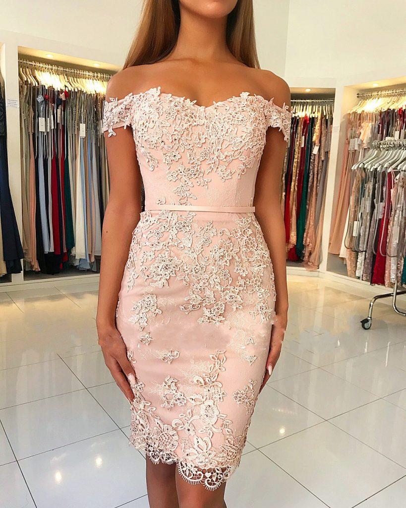 Schön Abendkleider Kurz Mit Spitze Design - Abendkleid