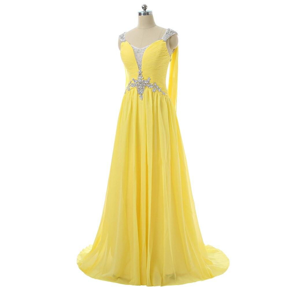 13 Fantastisch Gelbe Abend Kleider SpezialgebietFormal Einfach Gelbe Abend Kleider Design