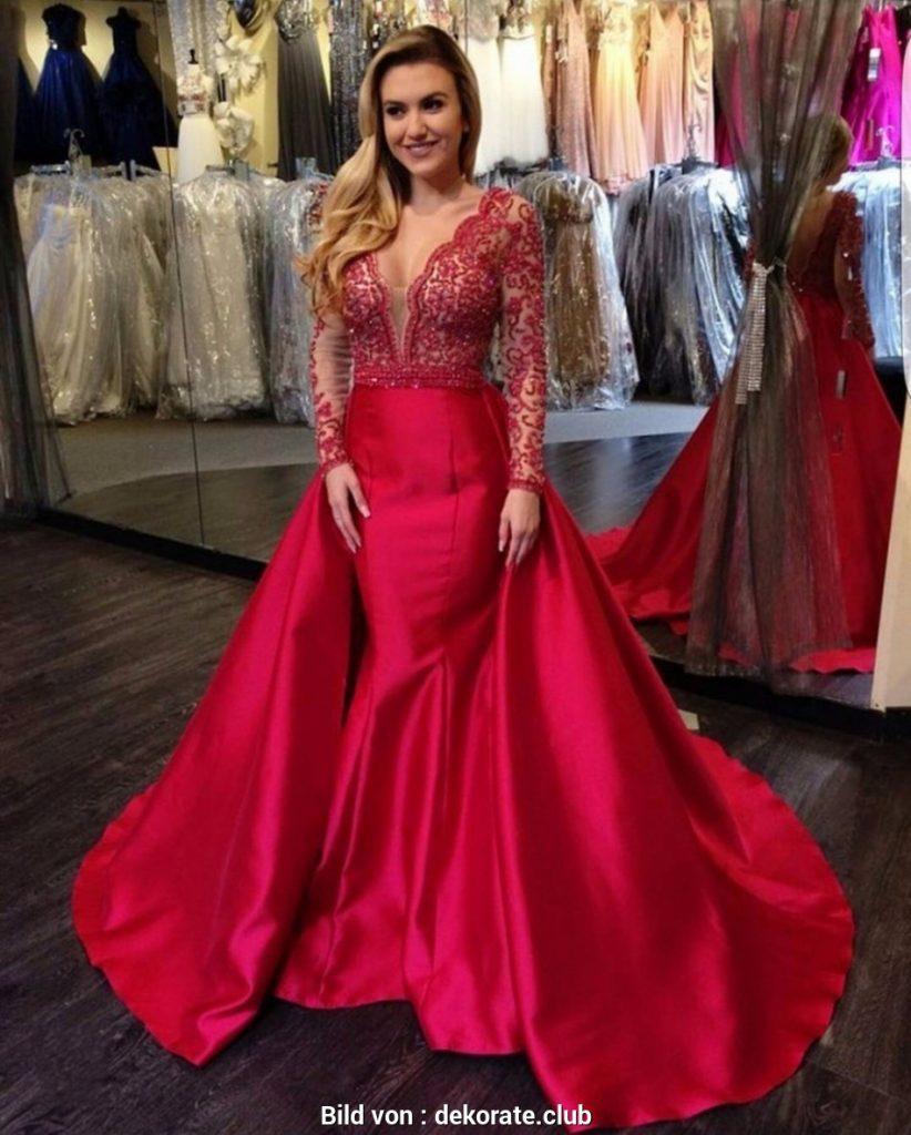 9 Cool Rote Abendkleider Lang Design - Abendkleid