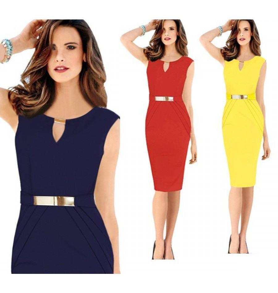 Designer Top Kleid Blau Gelb SpezialgebietAbend Cool Kleid Blau Gelb Ärmel
