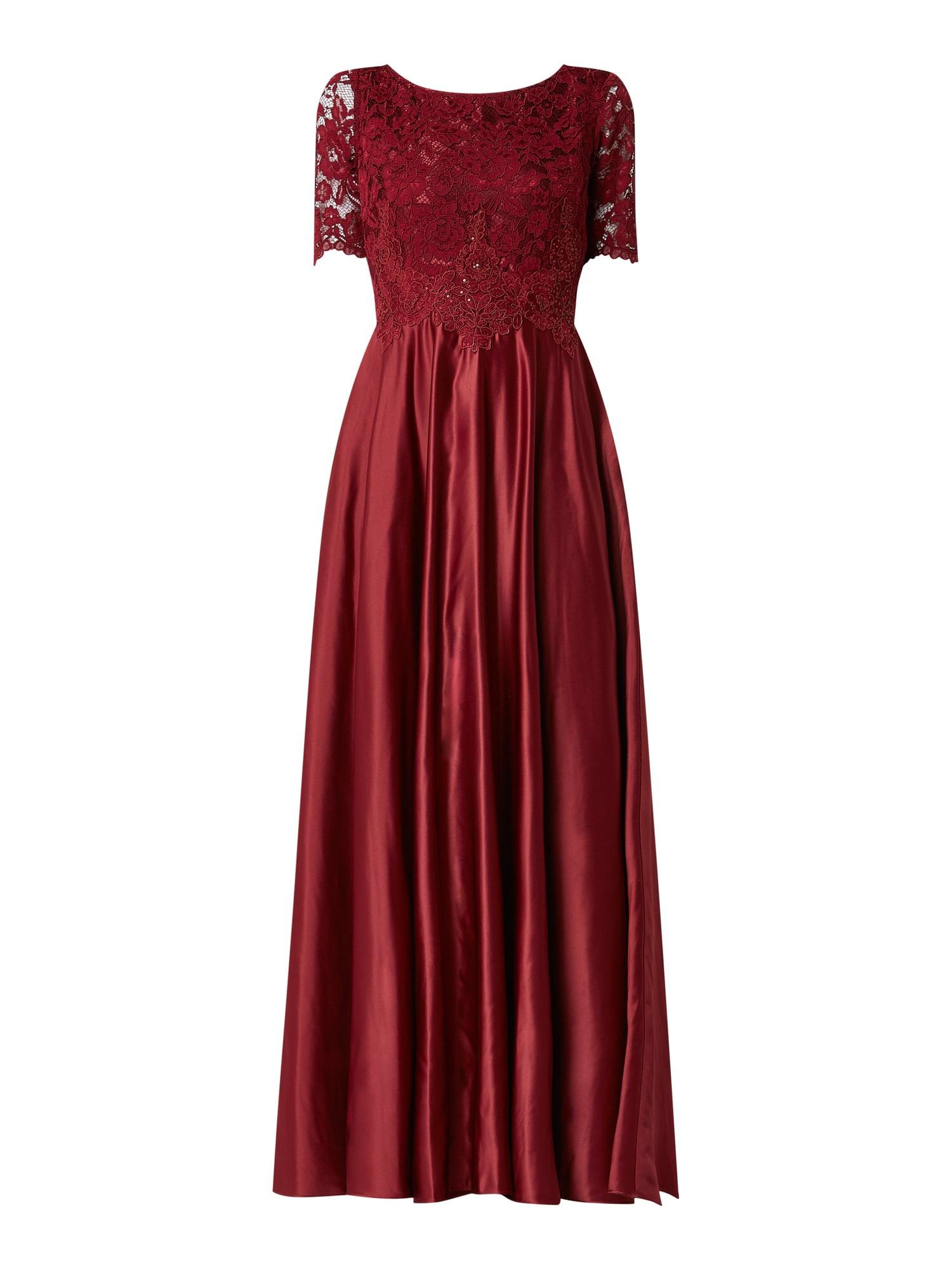 13 Schön Vera Mont Abendkleid Rot Galerie15 Genial Vera Mont Abendkleid Rot Ärmel