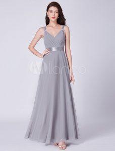 Einfach Graue Kleider Für Hochzeit ÄrmelDesigner Kreativ Graue Kleider Für Hochzeit Stylish