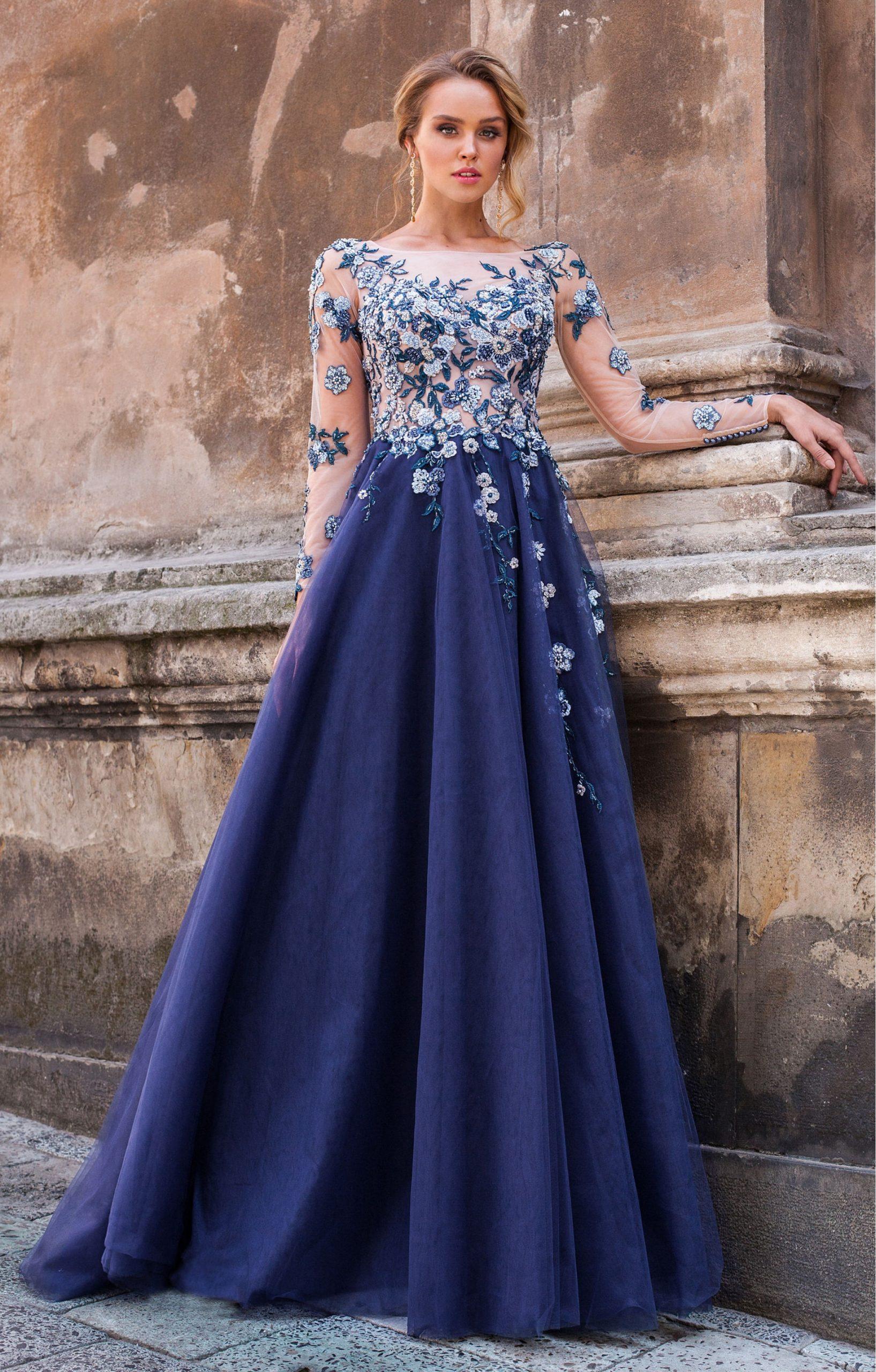 Designer Schön Blaue Abend Kleider Bester PreisDesigner Spektakulär Blaue Abend Kleider Boutique