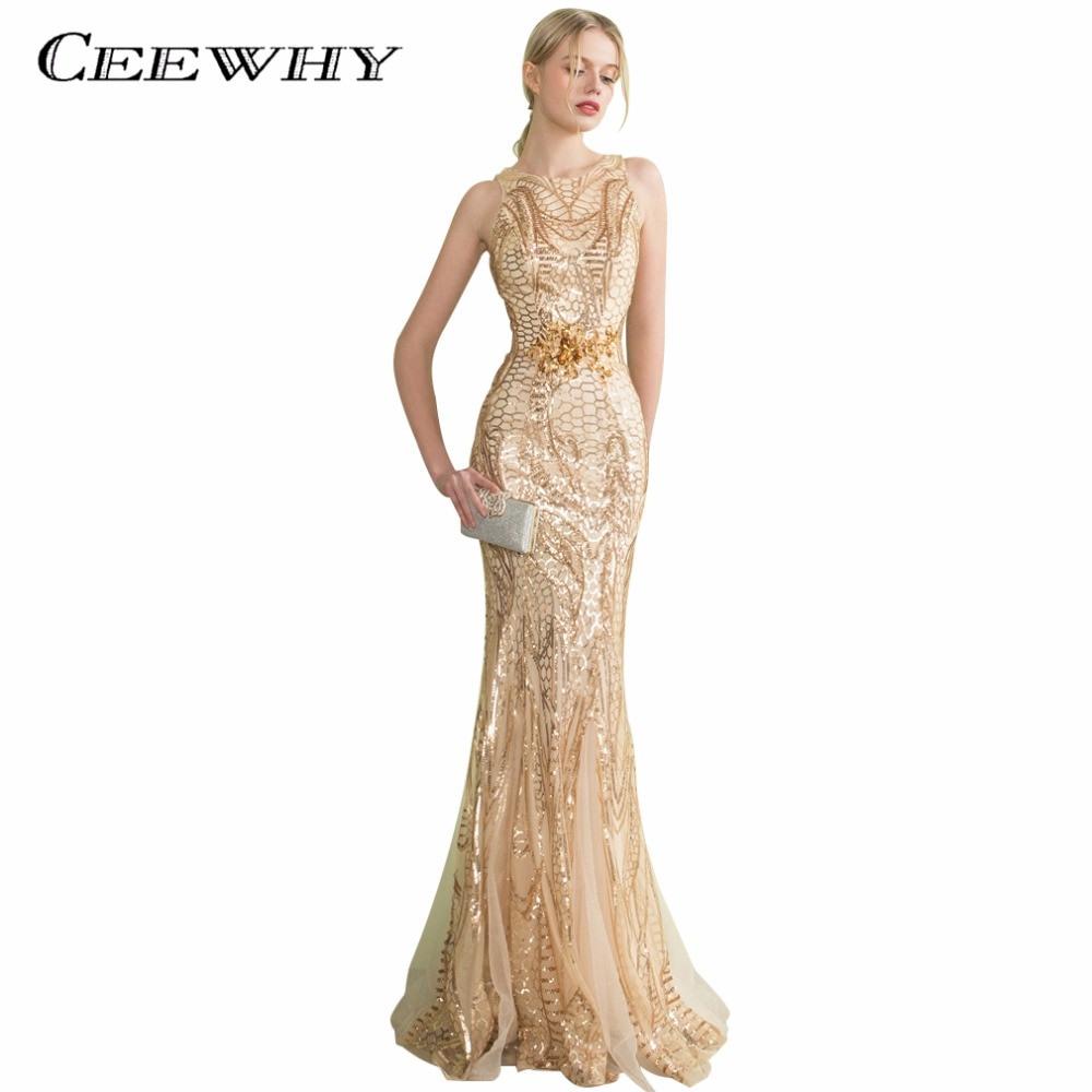 Designer Luxurius Abendkleid Pailletten Lang Spezialgebiet