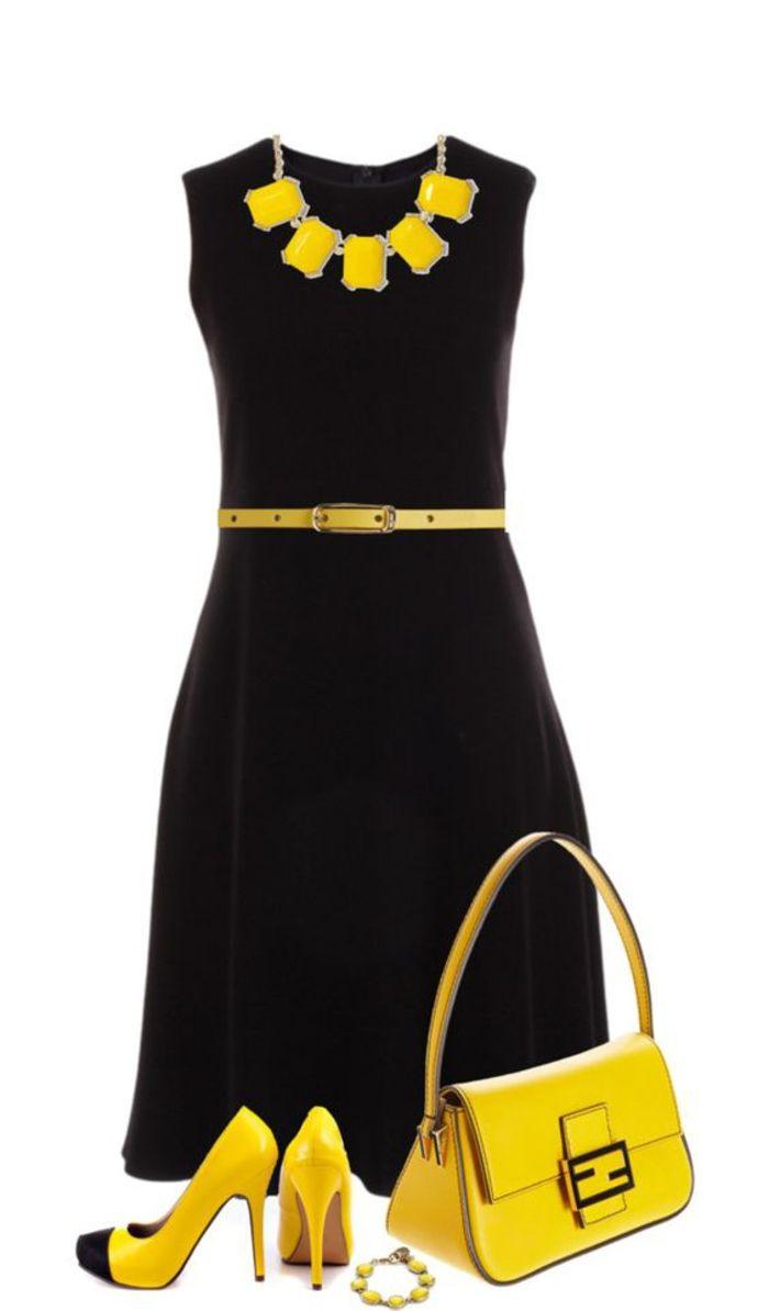20 Schön Kleid Schwarz Gelb SpezialgebietFormal Elegant Kleid Schwarz Gelb Stylish