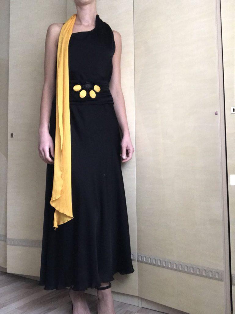 13 Spektakulär Kleid Schwarz Gelb Ärmel - Abendkleid