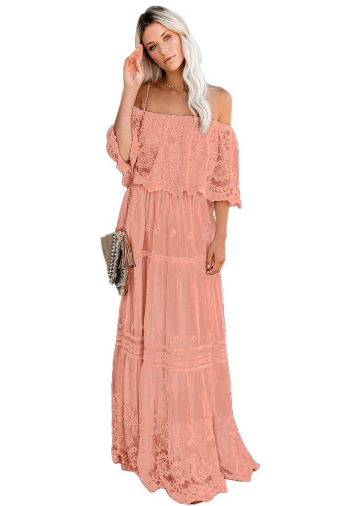 15 Ausgezeichnet Kleid Spitze Rosa Stylish - Abendkleid