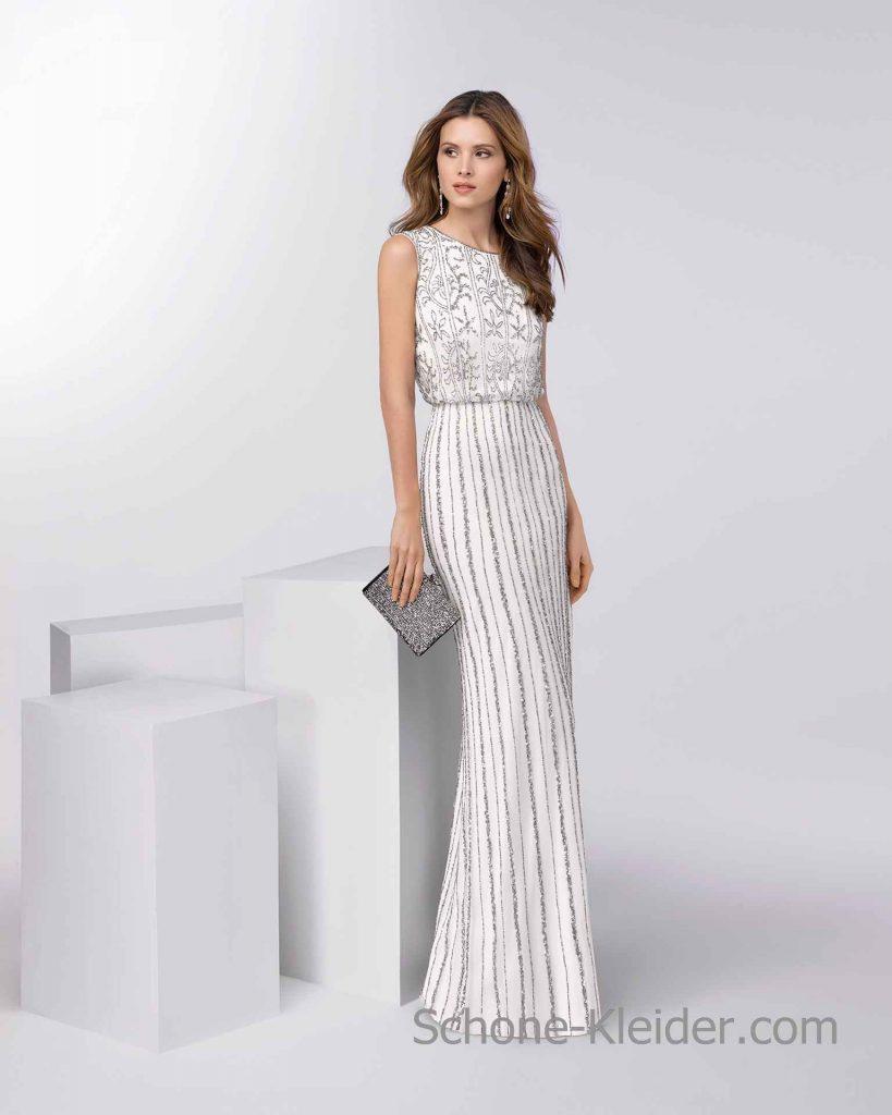 15 coolste weiße kleider lang für 2019 - abendkleid