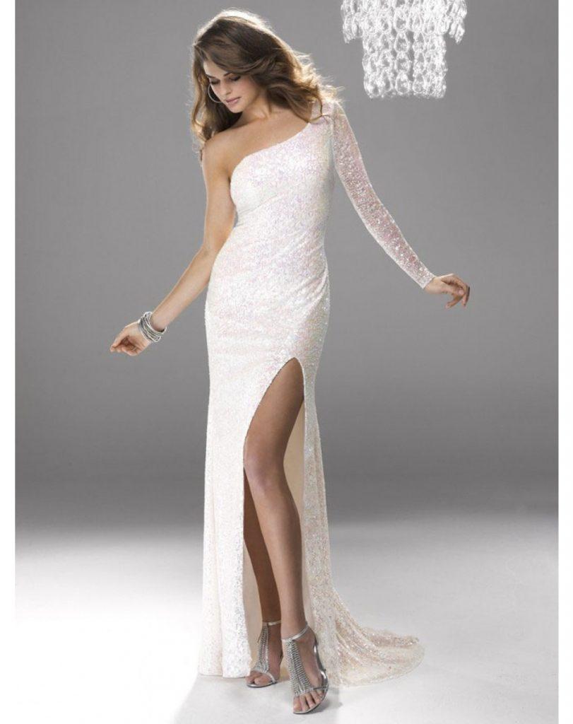 11 Einzigartig Weiße Abendkleider Lang Spezialgebiet - Abendkleid