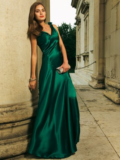 elegant-elegantes-grunes-kleid-stylish