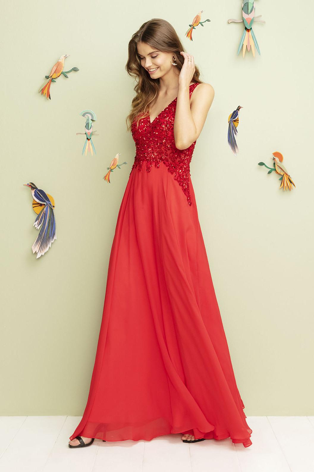 Einzigartig Abendkleider Rot Spezialgebiet20 Cool Abendkleider Rot Galerie