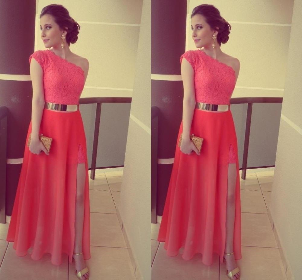 Abend Schön Langes Kleid Koralle GalerieDesigner Einfach Langes Kleid Koralle Bester Preis