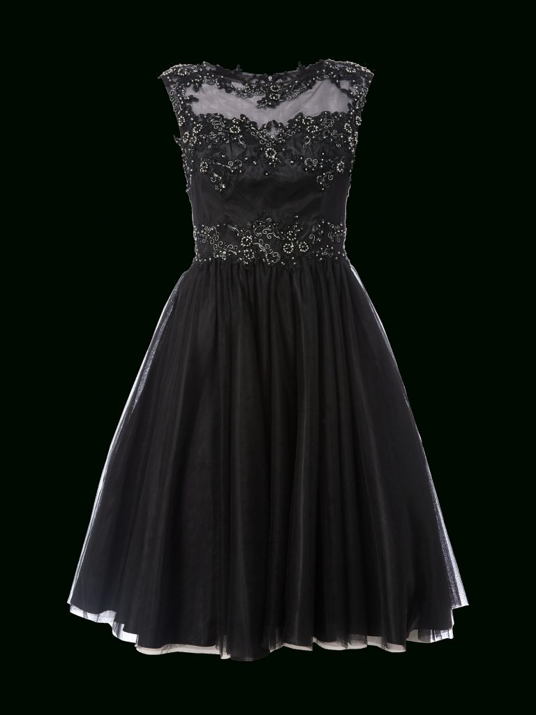 13 Einfach Niente Abendkleid Schwarz für 13 - Abendkleid