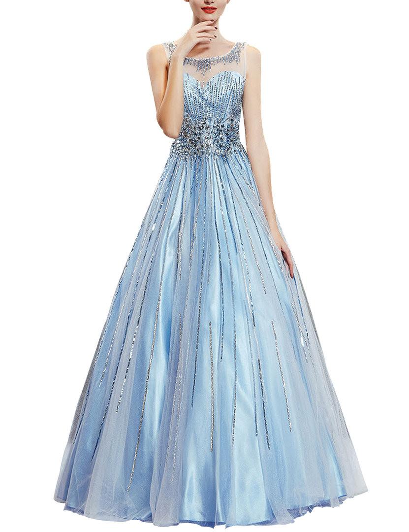 Formal Schön Abendkleid Hellblau Galerie20 Erstaunlich Abendkleid Hellblau Stylish