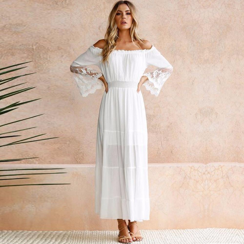 Formal Großartig Sommerkleid Weiß VertriebAbend Einfach Sommerkleid Weiß Design