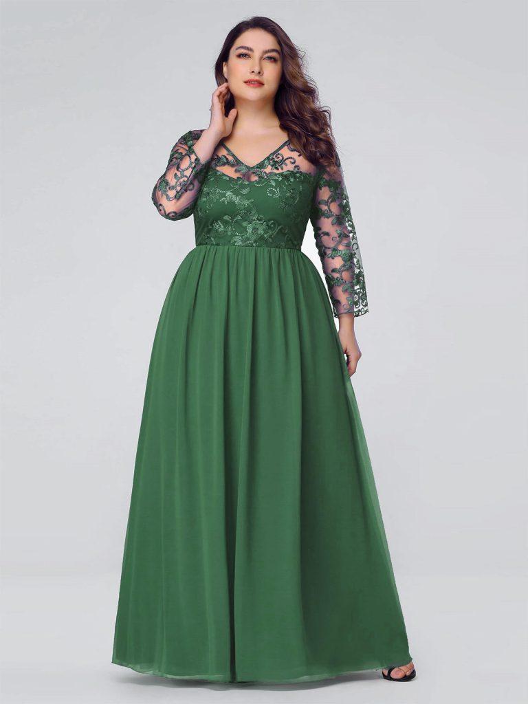 8 Großartig Abendkleid Grün Lang Galerie - Abendkleid