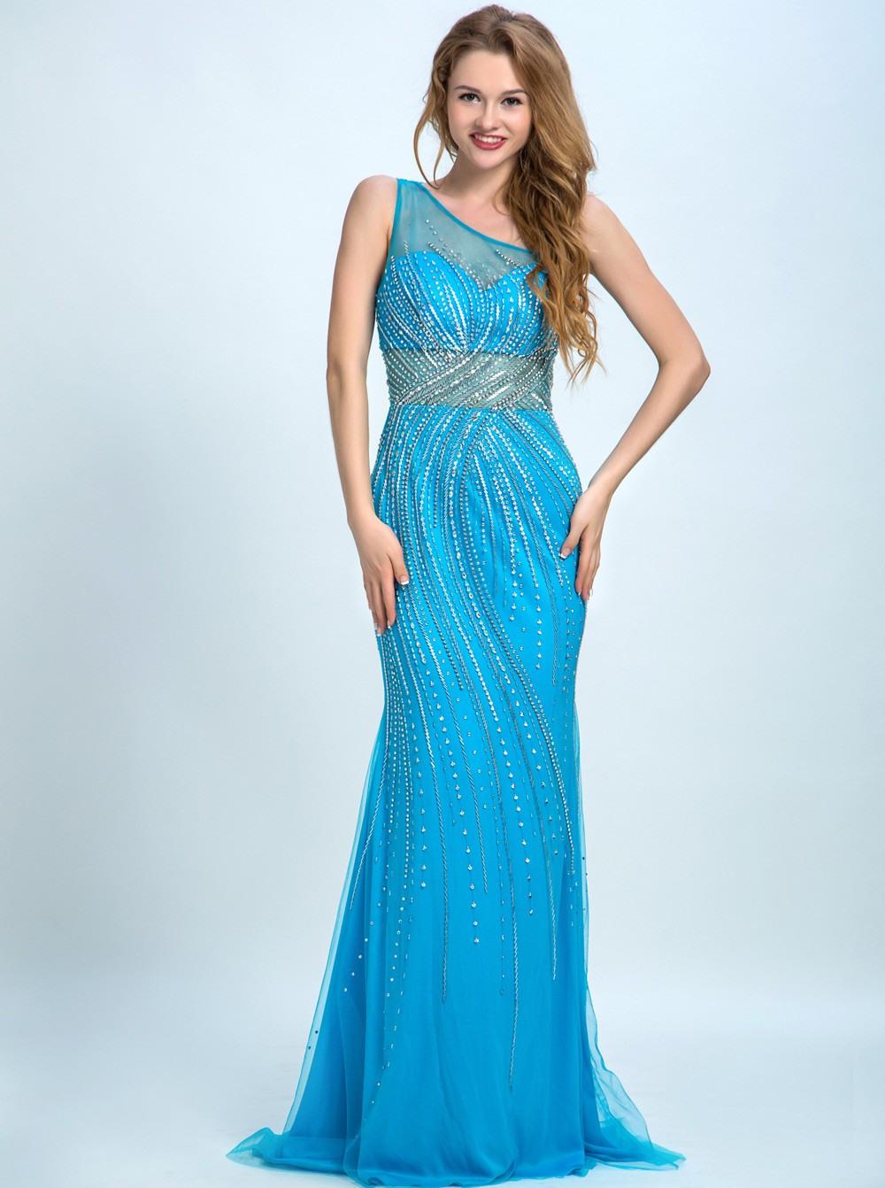 17 Einzigartig Blau Abendkleid GalerieAbend Leicht Blau Abendkleid Ärmel