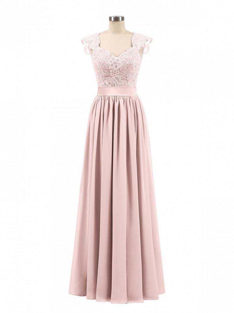 11 Leicht Kleid Spitze Rosa Design - Abendkleid