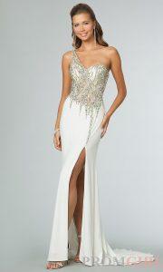Formal Luxus One Shoulder Abendkleid Lang VertriebFormal Cool One Shoulder Abendkleid Lang Ärmel