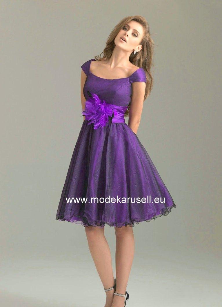 Designer Einfach Flieder Kleid Kurz Ärmel Genial Flieder Kleid Kurz Vertrieb