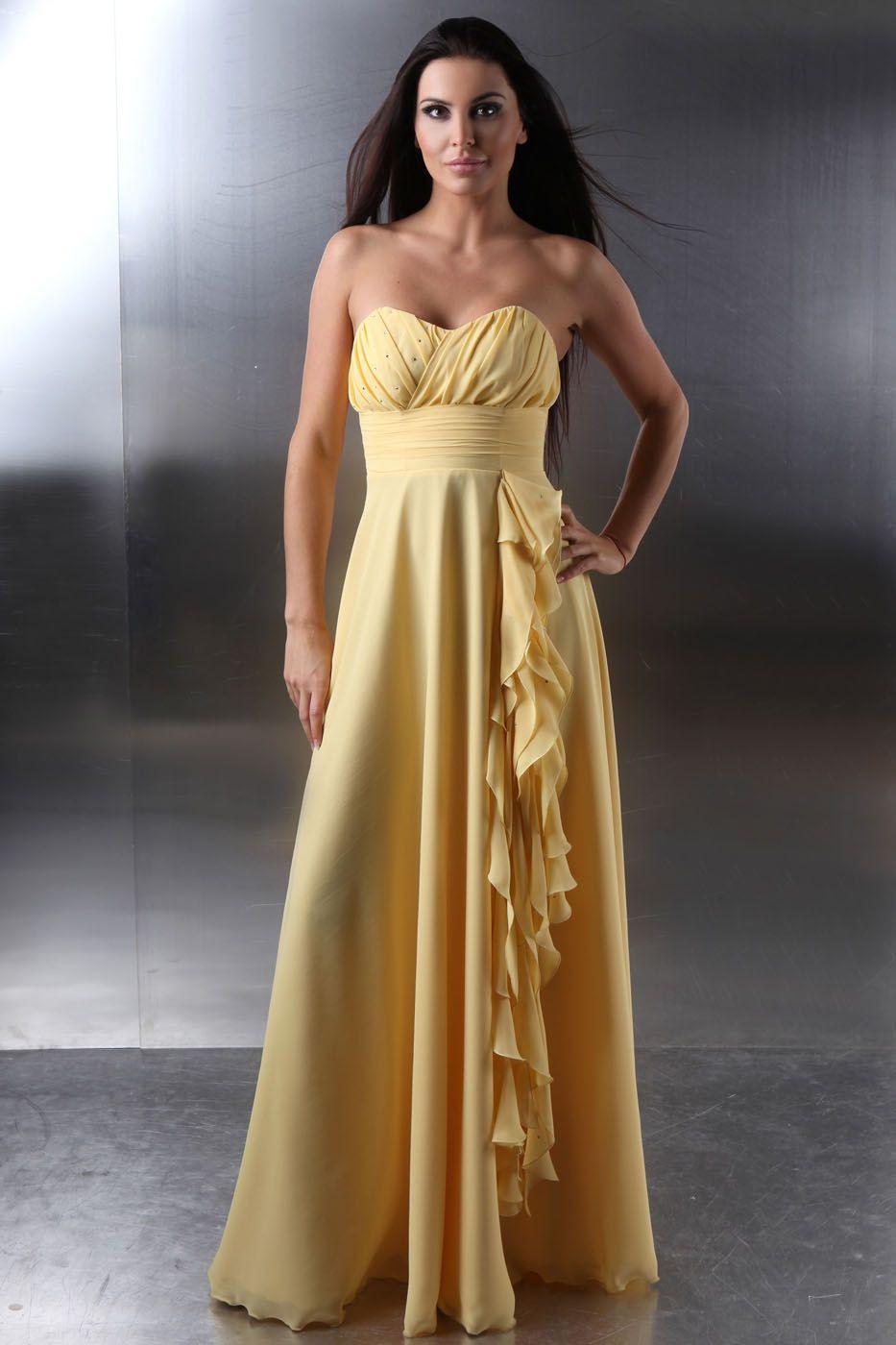 Designer Top Abendkleid Gelb Bester Preis17 Kreativ Abendkleid Gelb Boutique