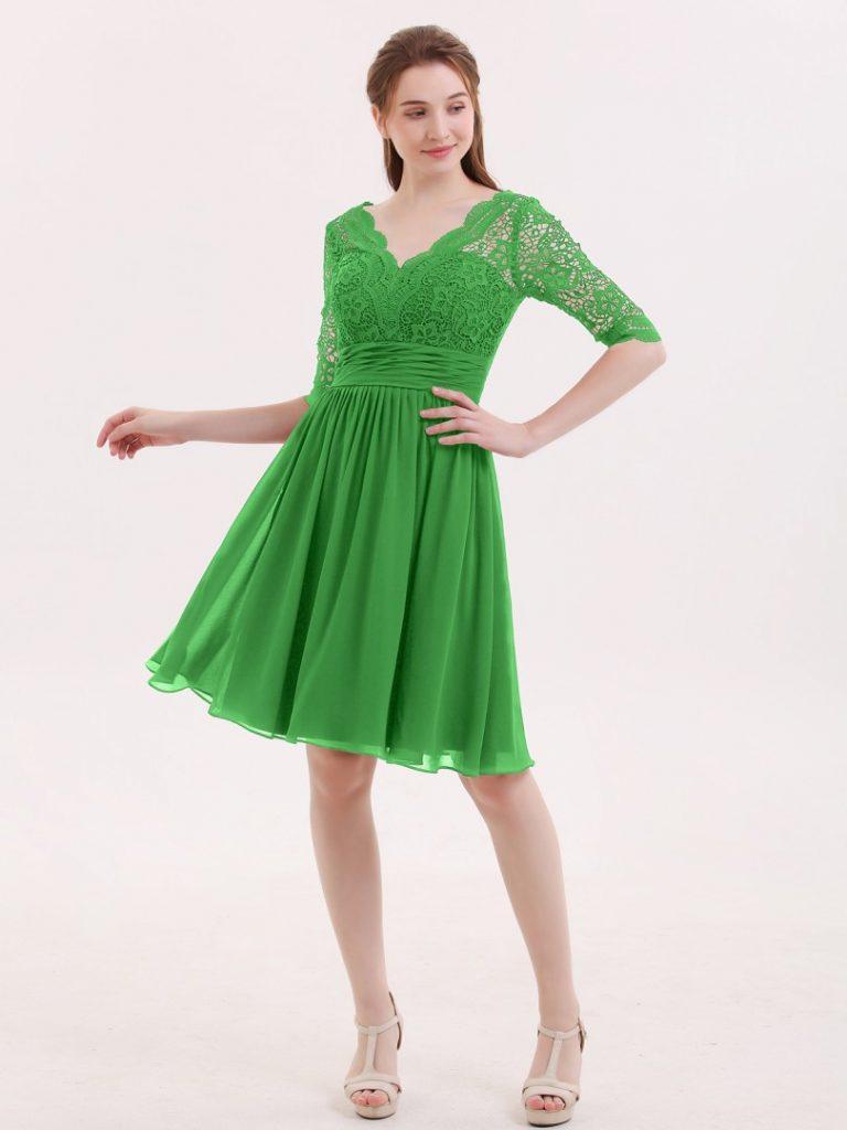 20 Großartig Kleid Grün Kurz Spezialgebiet - Abendkleid