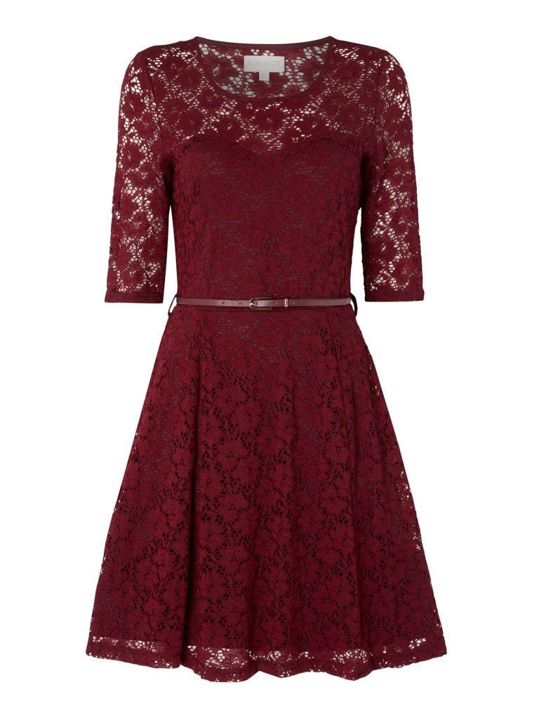 5 Luxurius Kleid Spitze Bordeaux für 519 - Abendkleid