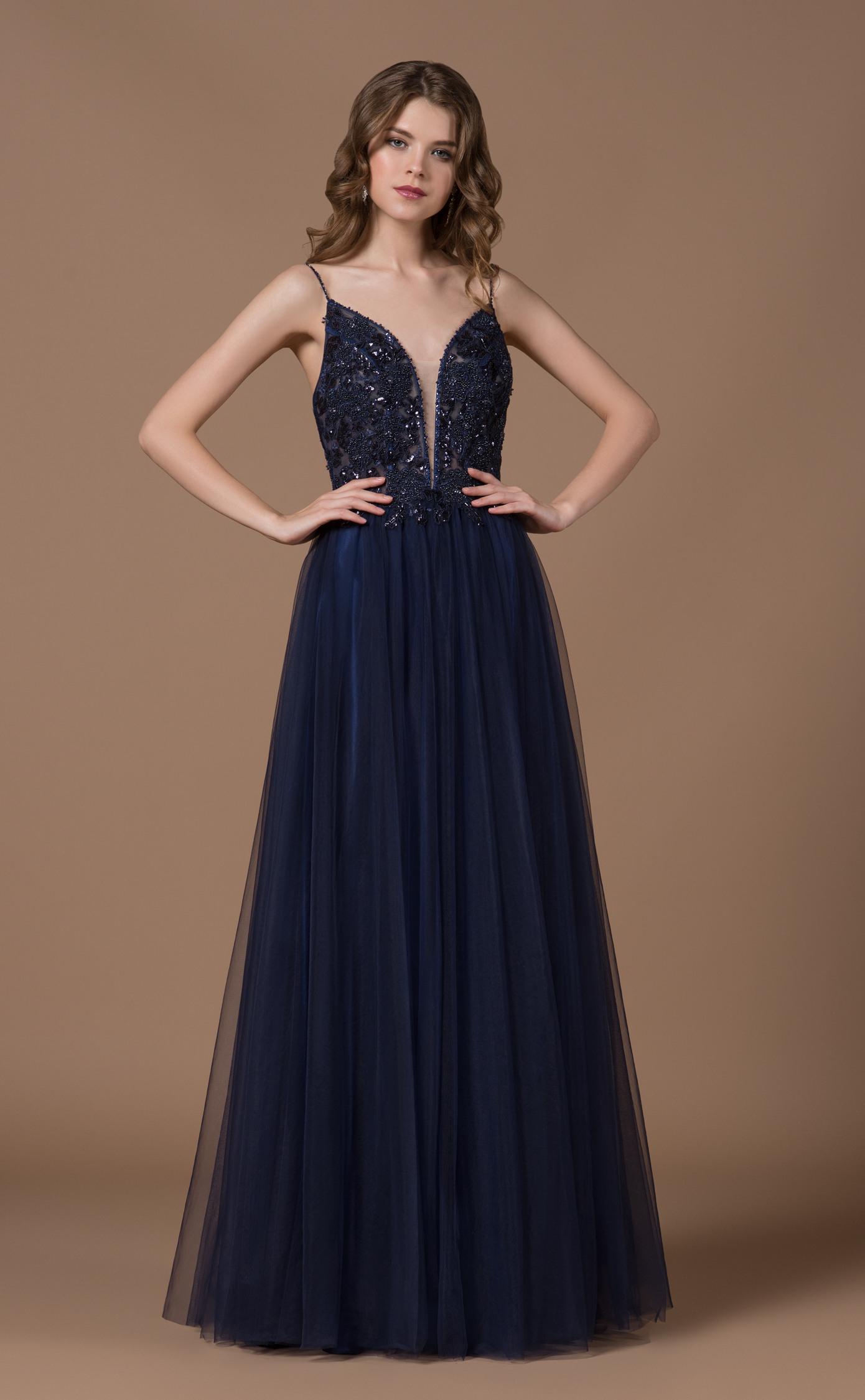 Designer Leicht Dunkelblaues Abendkleid Vertrieb Erstaunlich Dunkelblaues Abendkleid Stylish