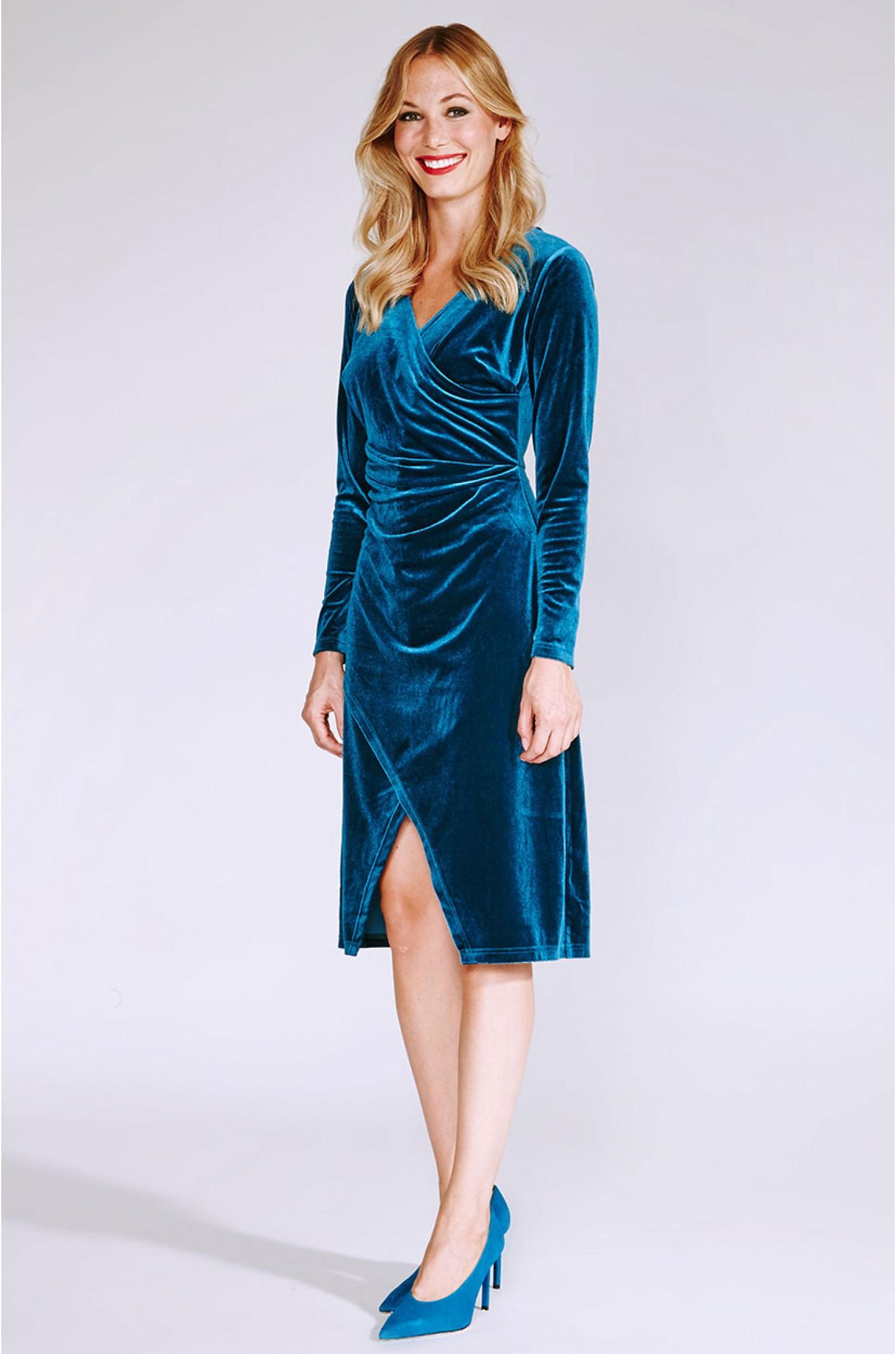 Designer Cool Wickel Abendkleid ÄrmelFormal Perfekt Wickel Abendkleid Design