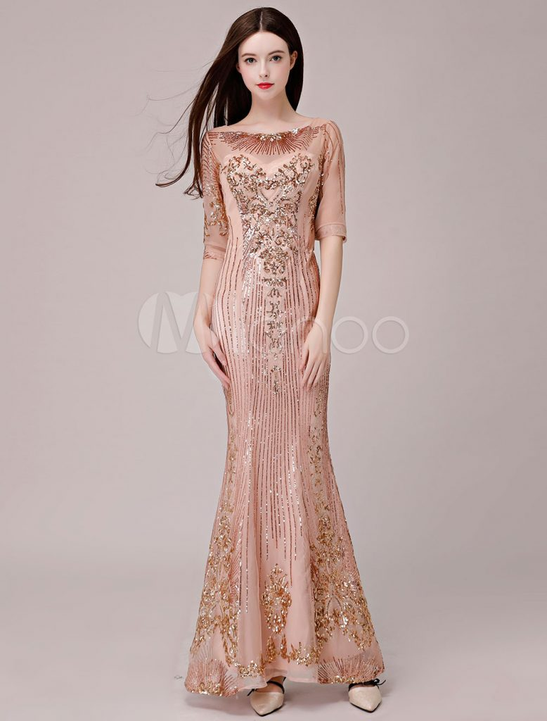 16 Wunderbar Abendkleider Pailletten Ärmel - Abendkleid