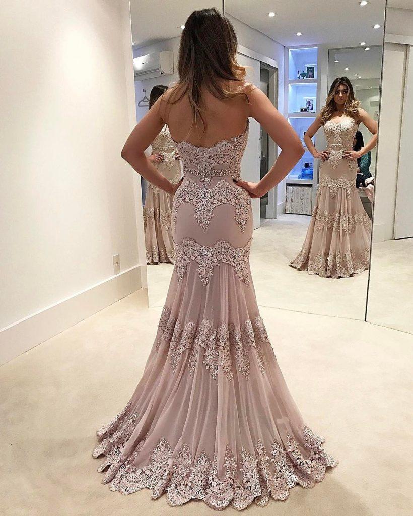 Abend Ausgezeichnet Lange Abendkleider Online Ärmel - Abendkleid