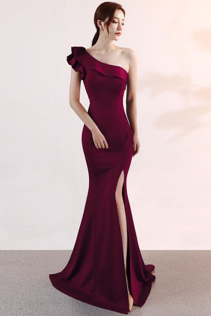 10 Schön Dunkelrotes Abendkleid ÄrmelFormal Schön Dunkelrotes Abendkleid Design