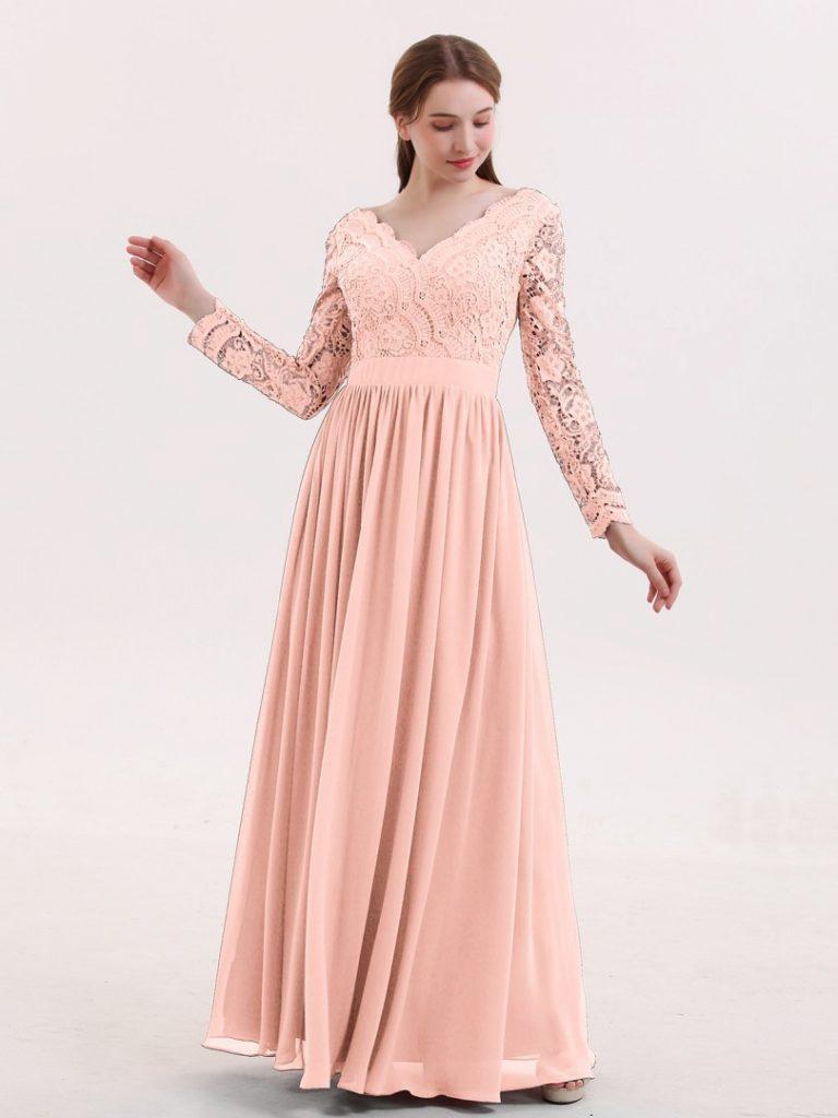 Abend Cool Kleid Koralle Lang Galerie - Abendkleid