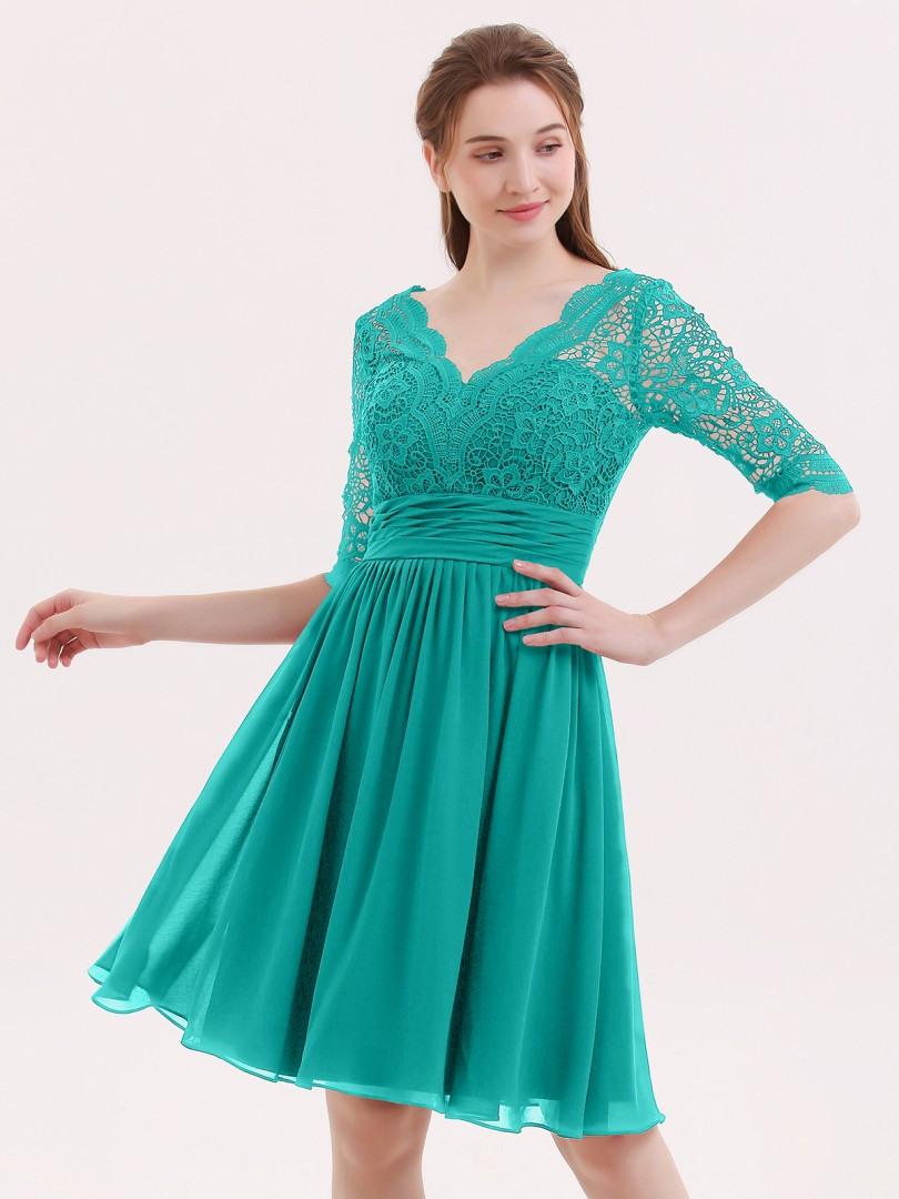 Designer Top Kleid Grün Kurz Ärmel17 Einzigartig Kleid Grün Kurz Ärmel